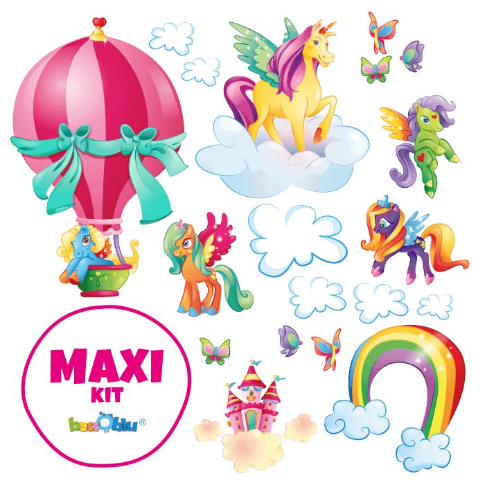 Wall Stickers for Kids Maxi Kit The Magical Unicorns